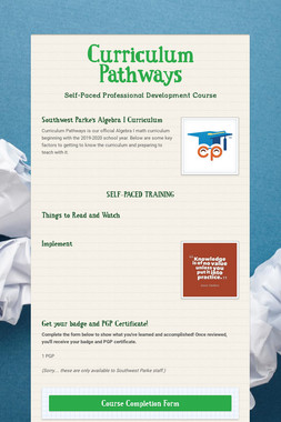 Curriculum Pathways