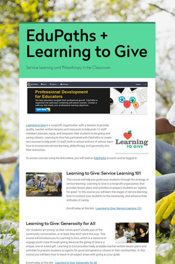 EduPaths + Learning to Give