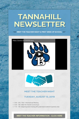 Tannahill Newsletter
