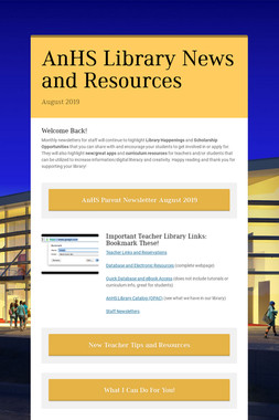 AnHS Library News and Resources