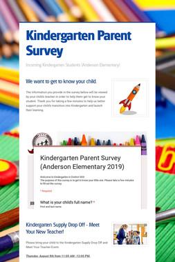 Kindergarten Parent Survey