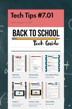 Tech Tips #7.01