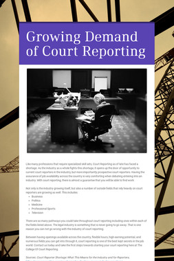 Growing Demand of Court Reporting