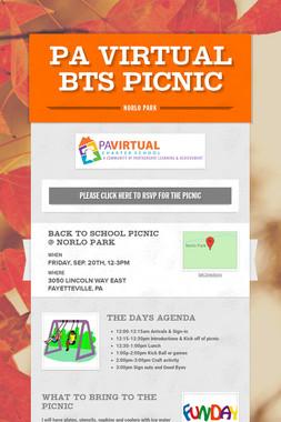 PA Virtual BTS Picnic