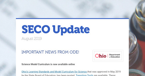 SECO Update | Smore Newsletters for Education