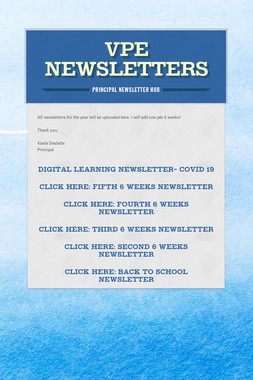 VPE NEWSLETTERS