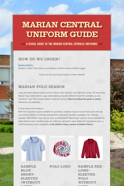 MARIAN CENTRAL UNIFORM GUIDE