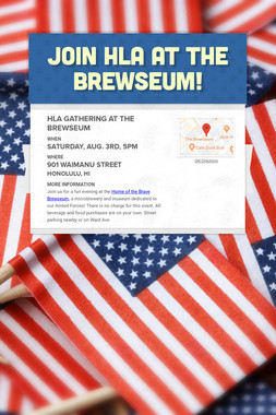 Join HLA at the Brewseum!