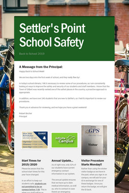 Settler's Point School Safety