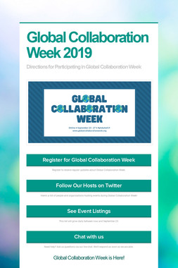 Global Collaboration Week 2019