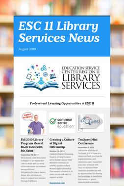 ESC 11 Library Services News
