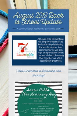 August 2019  Back to School Update