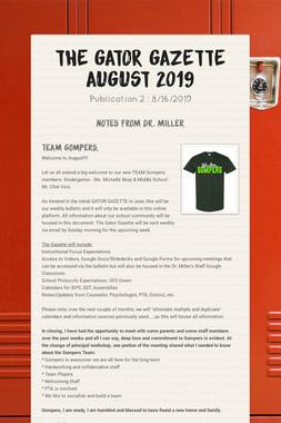 The GATOR Gazette      August 2019