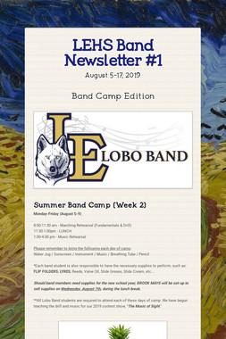 LEHS Band Newsletter #1