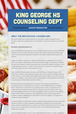 King George HS Counseling Dept