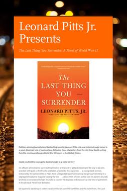 Leonard Pitts Jr. Presents