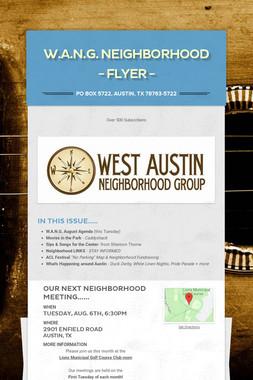 W.A.N.G. Neighborhood - Flyer -