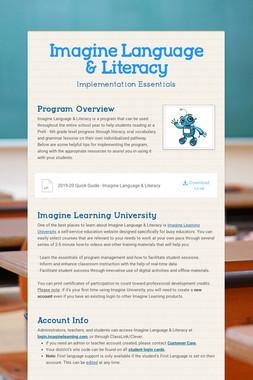 Imagine Language & Literacy
