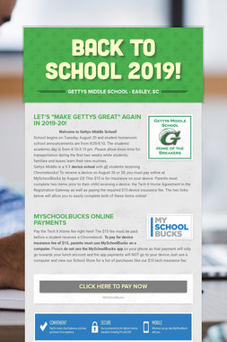BACK to SCHOOL 2019!