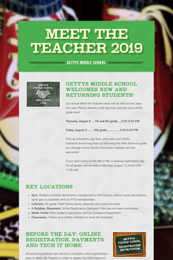 Meet the Teacher 2019
