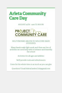 Arleta Community Care Day