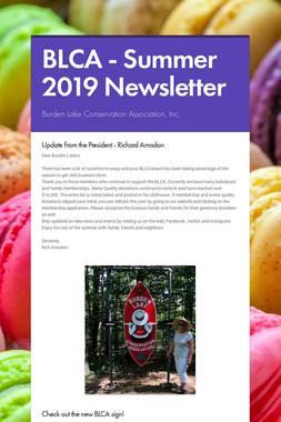 BLCA - Summer 2019 Newsletter