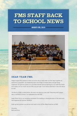 FMS Staff Back to School News