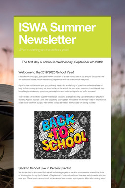 ISWA Summer Newsletter