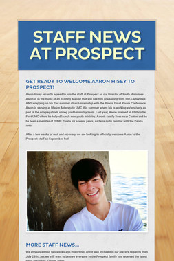Staff News at Prospect