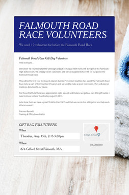 FALMOUTH ROAD RACE VOLUNTEERS