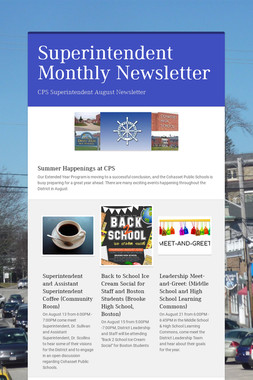 Superintendent Monthly Newsletter