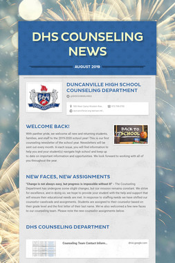 DHS Counseling News