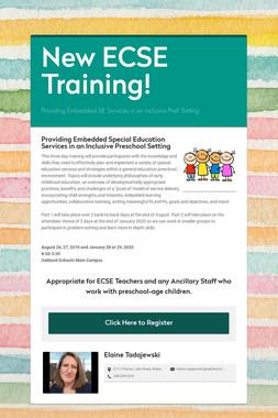 New ECSE Training!