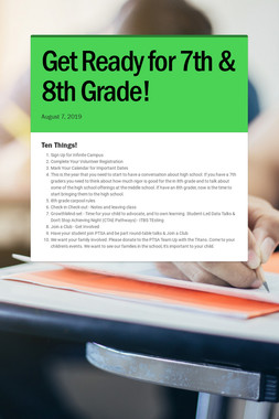 Get Ready for 7th & 8th Grade!