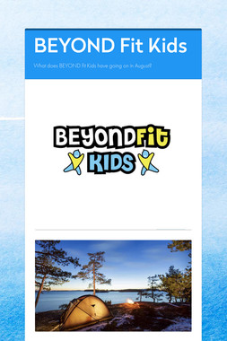 BEYOND Fit Kids