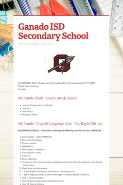 Ganado ISD Secondary School