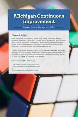 Michigan Continuous Improvement