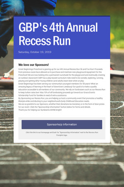 GBP's 4th Annual Recess Run