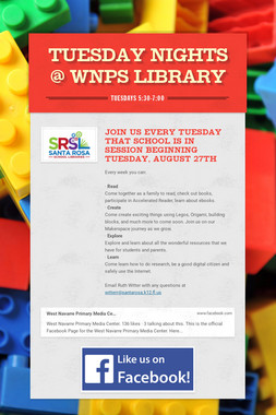 Tuesday Nights @ WNPS Library