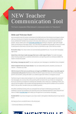 NEW Teacher Communication Tool