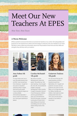 Meet Our New Teachers At EPES