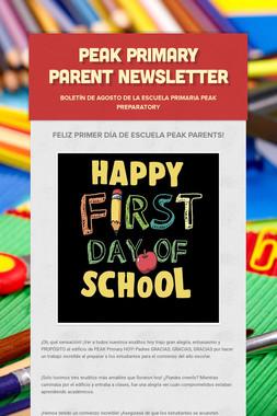 Peak Primary Parent Newsletter