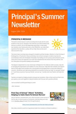 Principal's Summer Newsletter