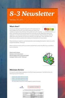 8-3 Newsletter