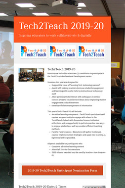 Tech2Teach 2019-20