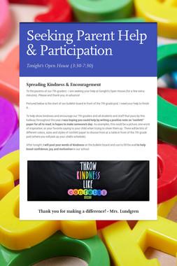 Seeking Parent Help & Participation