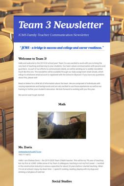 Team 3 Newsletter