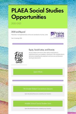PLAEA Social Studies Opportunities