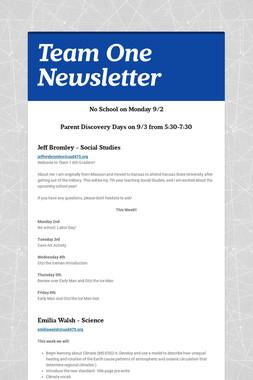 Team One Newsletter