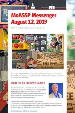 MoASSP Messenger August 12, 2019